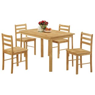 Phil Dining Set With 4 Chairs By Brambly Cottage