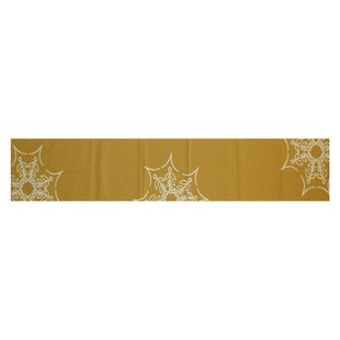 Web Art Holiday Print Gold Indoor/Outdoor Area Rug