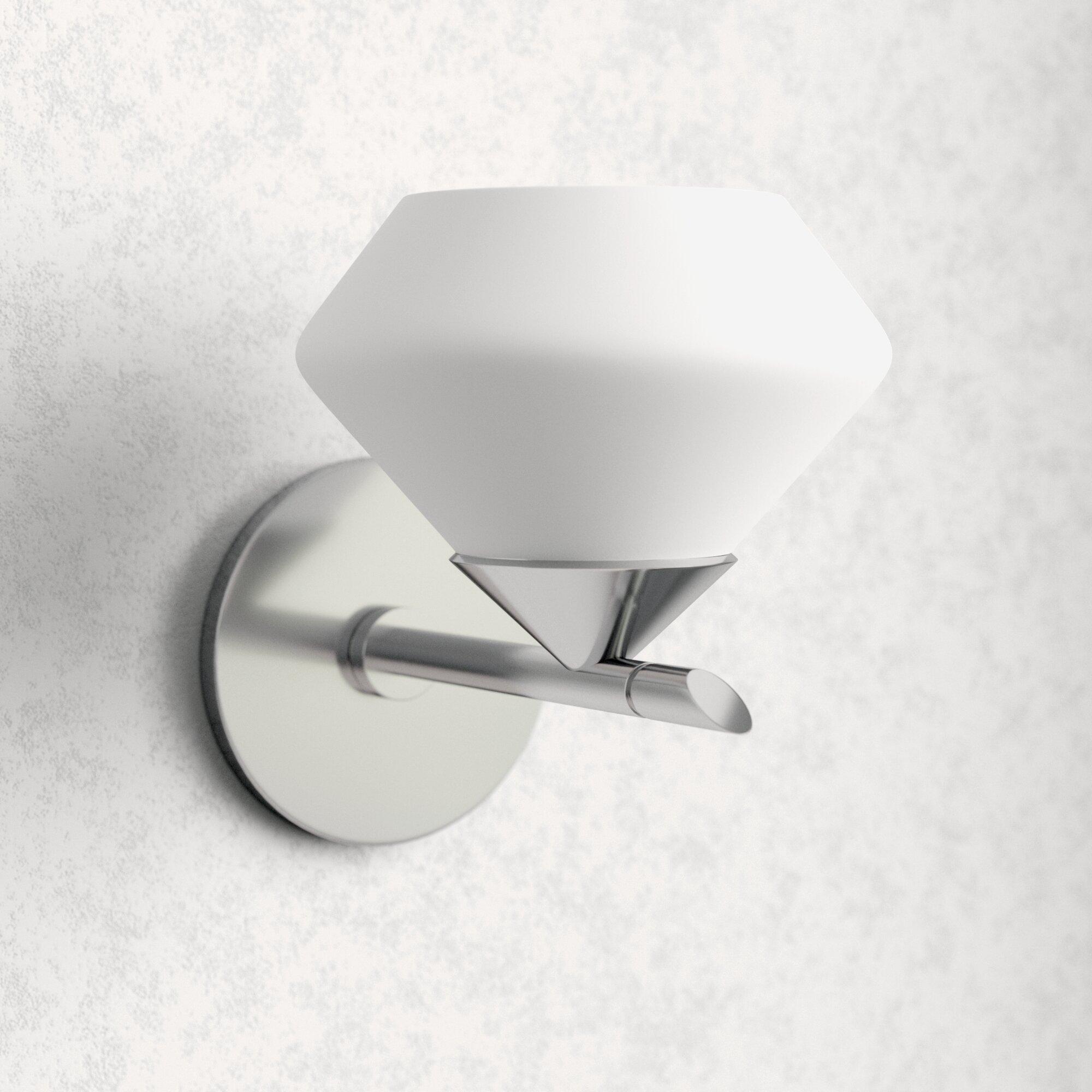 Modern Silver Chrome Shade Vanity Lighting Allmodern