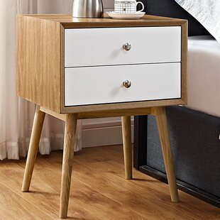 Fann 2 Drawer Nightstand by Wrought Studio