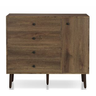 Brunette 4 Drawer Chest
