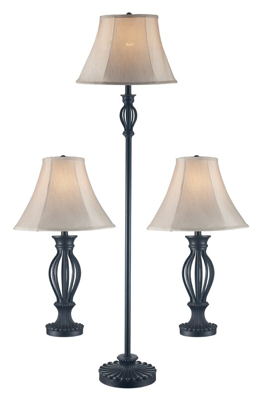 Gambier 3 piece table and floor lamp set reviews birch lane gambier 3 piece table and floor lamp set mozeypictures Images