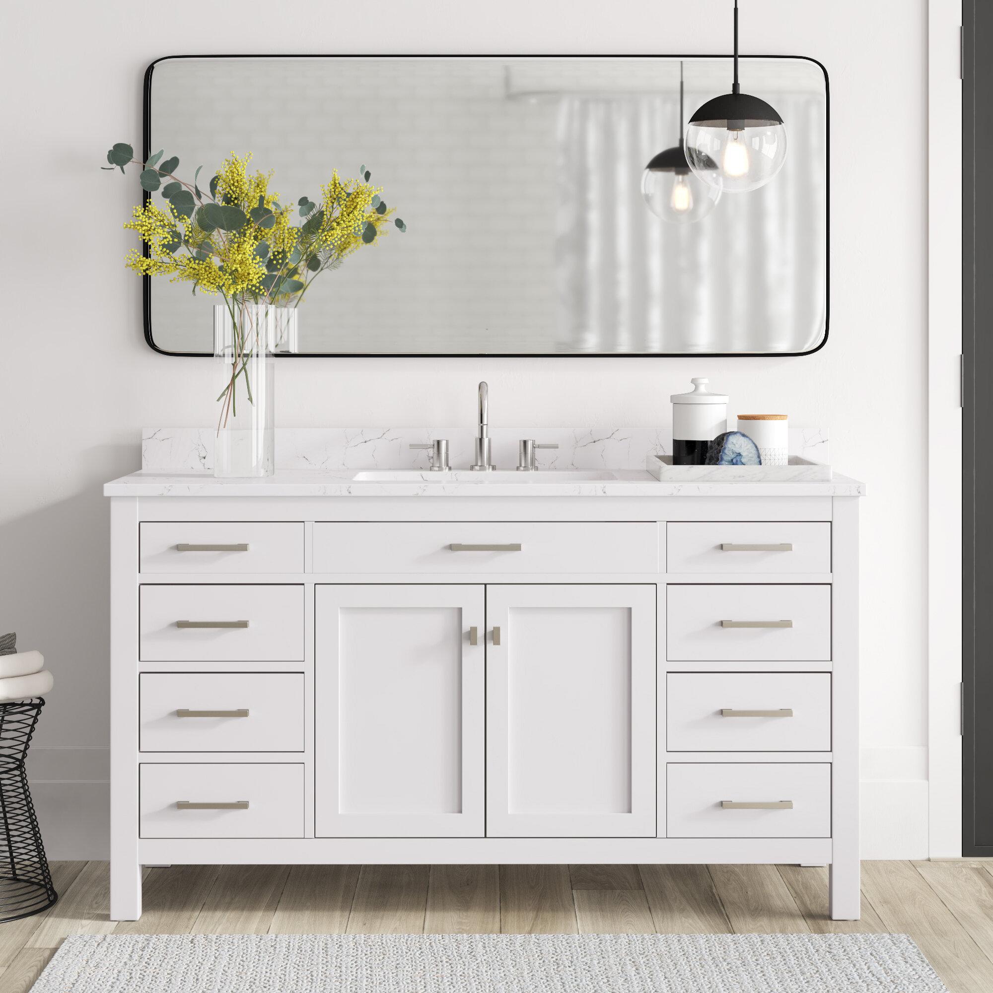 Mercury Row Atencio 60 Single Bathroom Vanity Set Reviews Wayfair