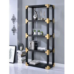 Gathers Metal Glass Standard Bookcase Everly Quinn