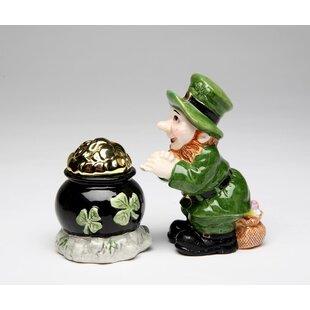 Leprechaun with Gold Pot 2-Piece Salt and Pepper Set