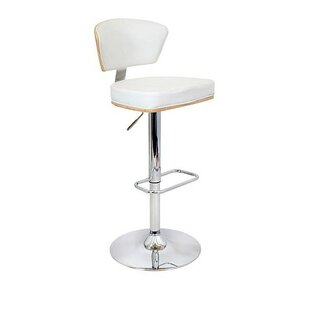 Mikaela Adjustable Height Swivel Bar Stool