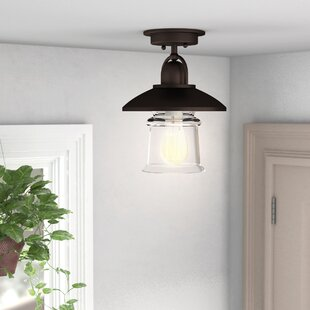 Bouvet 1-Light Semi-Flush Mount by Laurel Foundry Modern Farmhouse