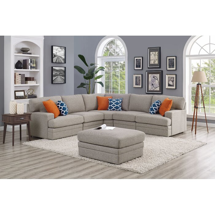 Sensational Episkopi 4 Seater Sectional Sofa With Ottoman Ibusinesslaw Wood Chair Design Ideas Ibusinesslaworg