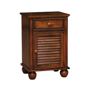 King Shutter Wood 1 Drawer Nightstand by Bayou Breeze