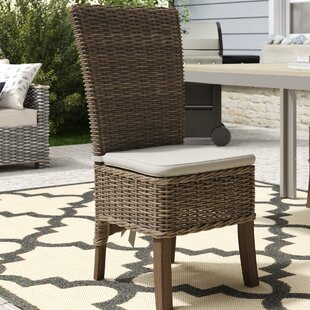 Branford Patio Dining Chair with Cushion (Set of 2)