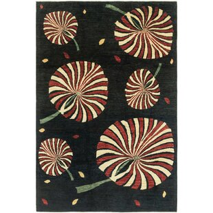 Look for One-of-a-Kind Nash Hand-Knotted 6'5 x 9'8 Wool Black/Beige/Red Area Rug By Isabelline