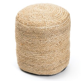Affordable Rentschler Braided Hemp Pouf By Bungalow Rose
