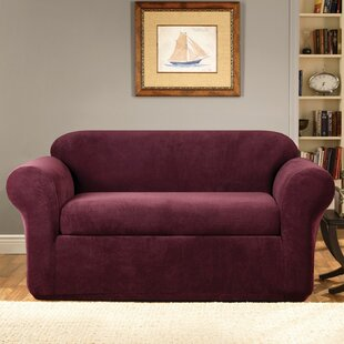 Stretch Metro Box Cushion Loveseat Slipcover