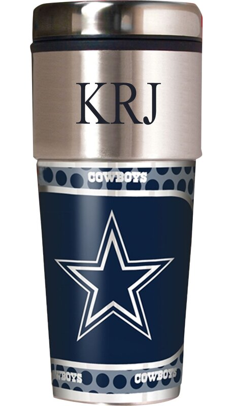 jds personalized gifts personalized cowboys travel mug wayfair