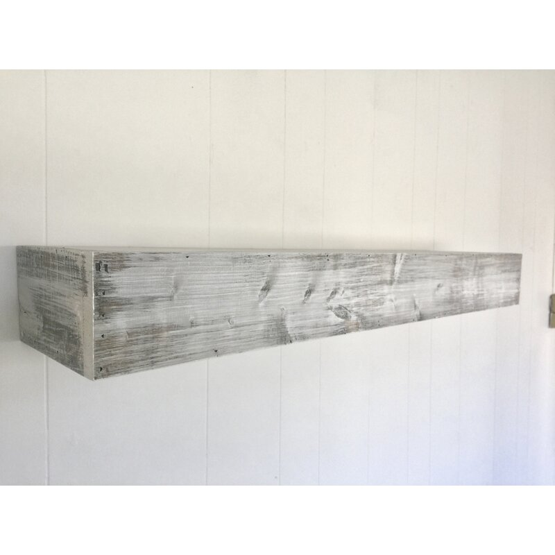 c2289e5a1f Floating Shelf in Shabby White Solid Wood Handmade Rustic Style Wall Shelf