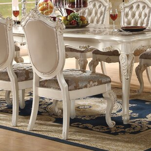 Wensley Traditional Upholstered Dining Ch..