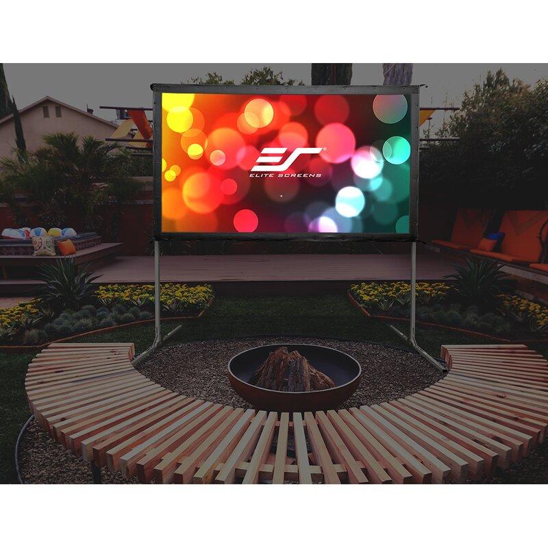 Elite Screens Yard Master 2 White Portable Projection Screen Wayfair