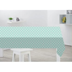 Sibylla Duck Egg Polka Dot Tablecloth By 17 Stories