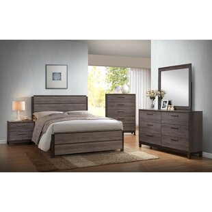 Mandy Wood Panel 5 Piece Bedroom Set