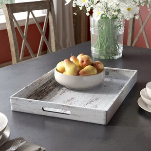 Lemus Birch Wood Finish Rectangular Accent Tray