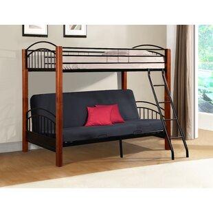 Harriet Bee Hermina Metal and Wood Twin Bunk Bed