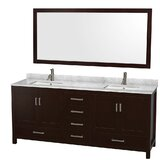 Sheffield 80 Double Bathroom Vanity Set with Mirror by Wyndham Collection