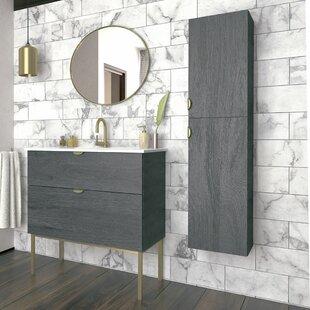 Woodmore Modern 813mm Free-standing Single Vanity Unit By Ebern Designs