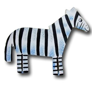 Handpainted Zebra Novelty Knob