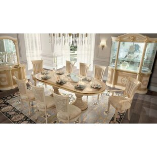 Chalgrave Extendable Solid Wood Dining Table Rosdorf Park