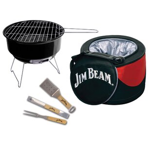 Jim Beam 5 Piece Barbecue Cooler and Grill Set with Tools