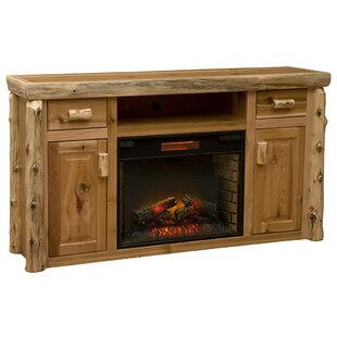 Cedar TV Stand for TVs up to 65 with Electric Fireplace