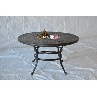Darby Home Co Nola Dining Table with Ice Bucket