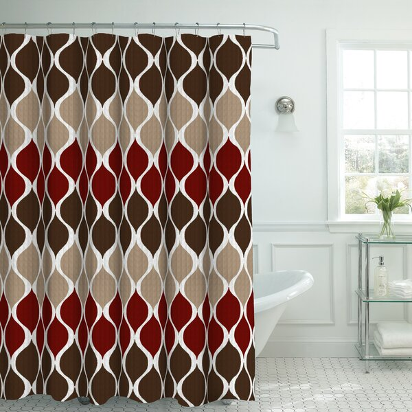 Andover Mills Danton Fabric Shower Curtain Set   Reviews   Wayfair. Maroon Shower Curtain Set. Home Design Ideas