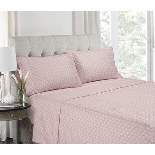 Find Ranney Blush Super Soft Printed Microfiber Sheet Set ByBungalow Rose