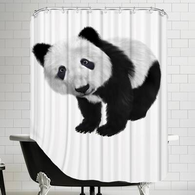 Panda Bear Animal Shower Curtain