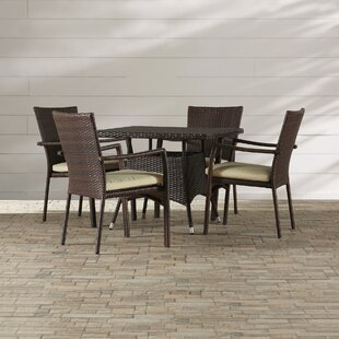 Meniko 5 Piece Rectangle Dining Set with Cushion