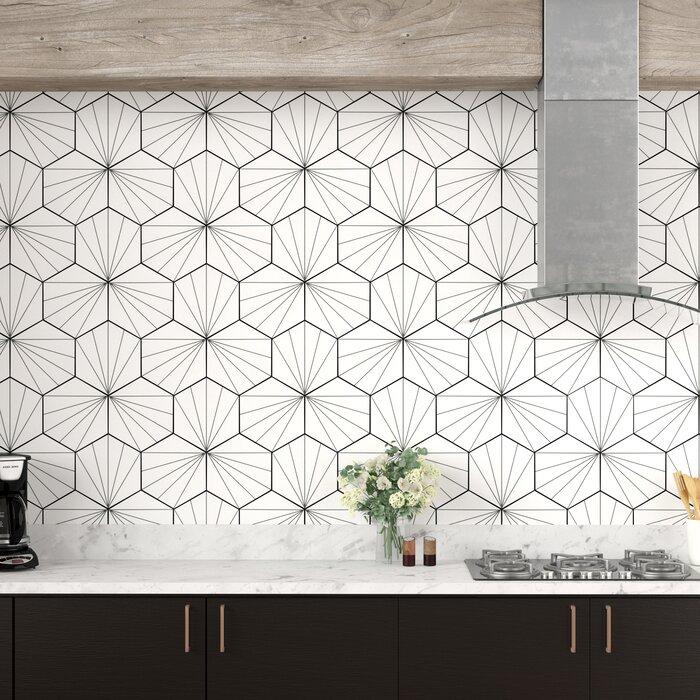 Misha Hex 9 X 10 Porcelain Mosaic Tile