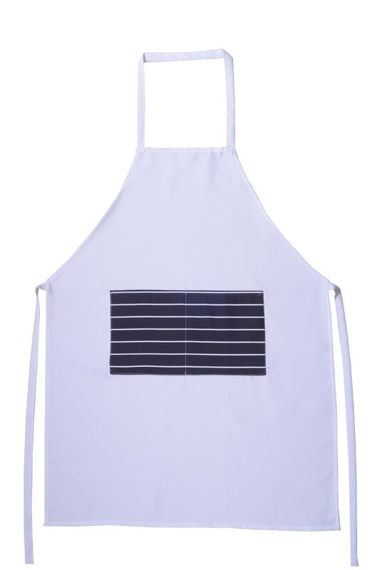 Winston Porter Professional Kitchen Bib Classic Striped Apron ...