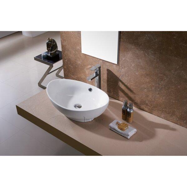 Luxier L 004 Bathroom Egg Porcelain Ceramic Oval Vessel Bathroom Sink With Overflow Reviews Wayfair