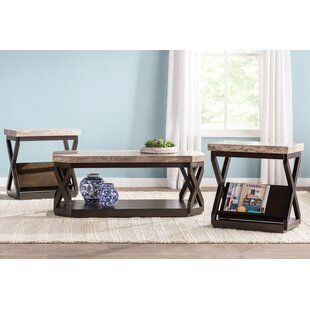 Kelton 3 Piece Coffee Table Set Latitude Run