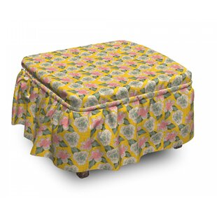 Exotic Beauty Hibiscus Ottoman Slipcover (Set Of 2) By East Urban Home