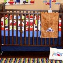 Transportation Fitted Crib Sheet