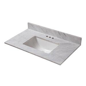 bathroom vanity sink tops. Marble 25  Single Bathroom Vanity Top Tops You ll Love Wayfair