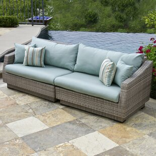 Castelli Sofa with Sunbrella Cushions by Wade Logan
