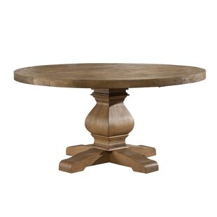 Belina Solid Pine Dining Table by Ophelia & Co. Wonderful