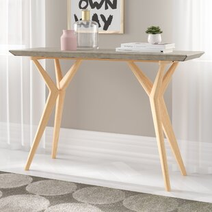 Lena Concrete Console Table By World Menagerie
