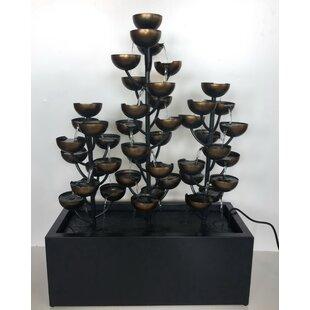 Hi-Line Gift Ltd. Zinc Metal Multi Level Cups Fountain