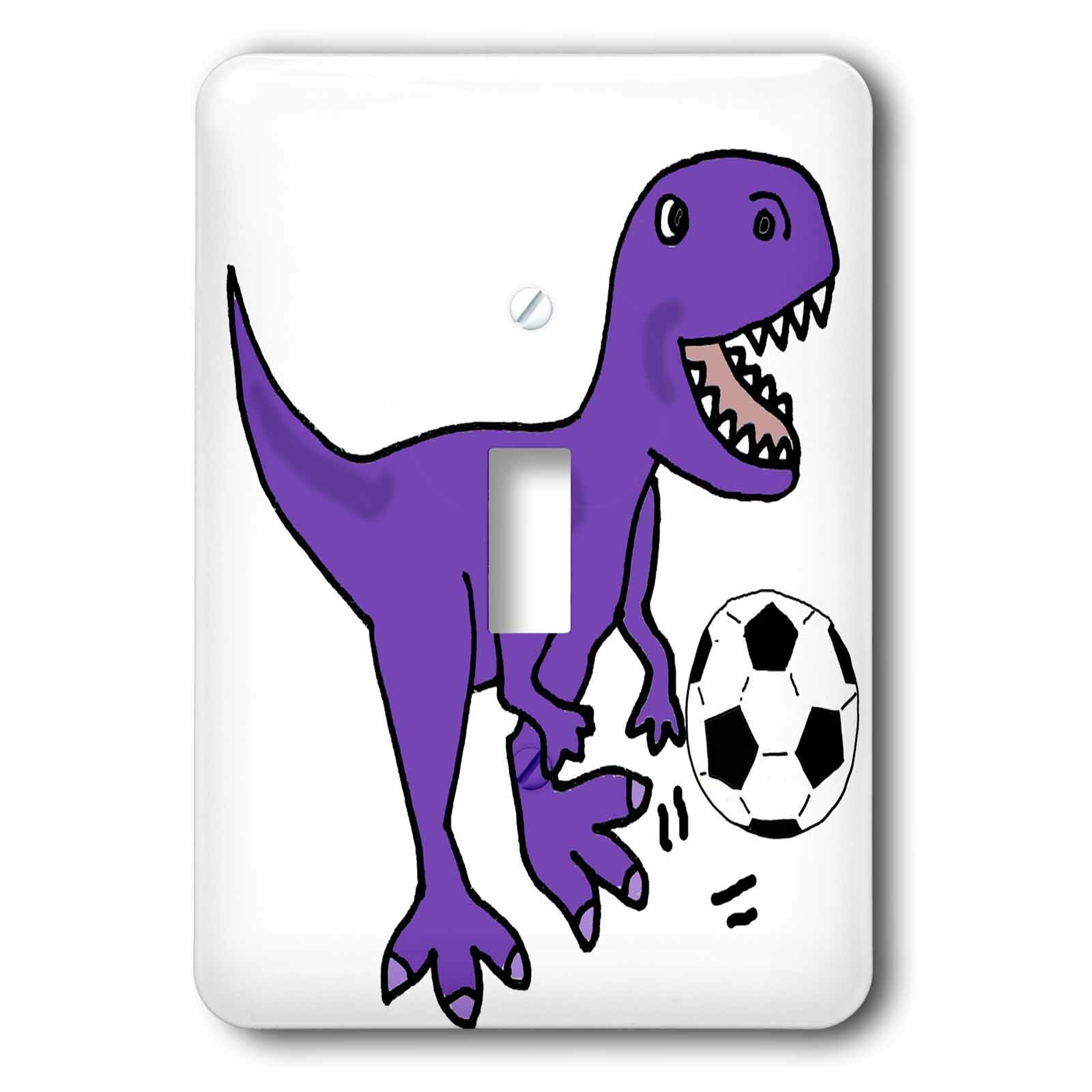 3drose Cute T Rex Dinosaur Playing Soccer 1 Gang Toggle Light Switch Wall Plate Wayfair