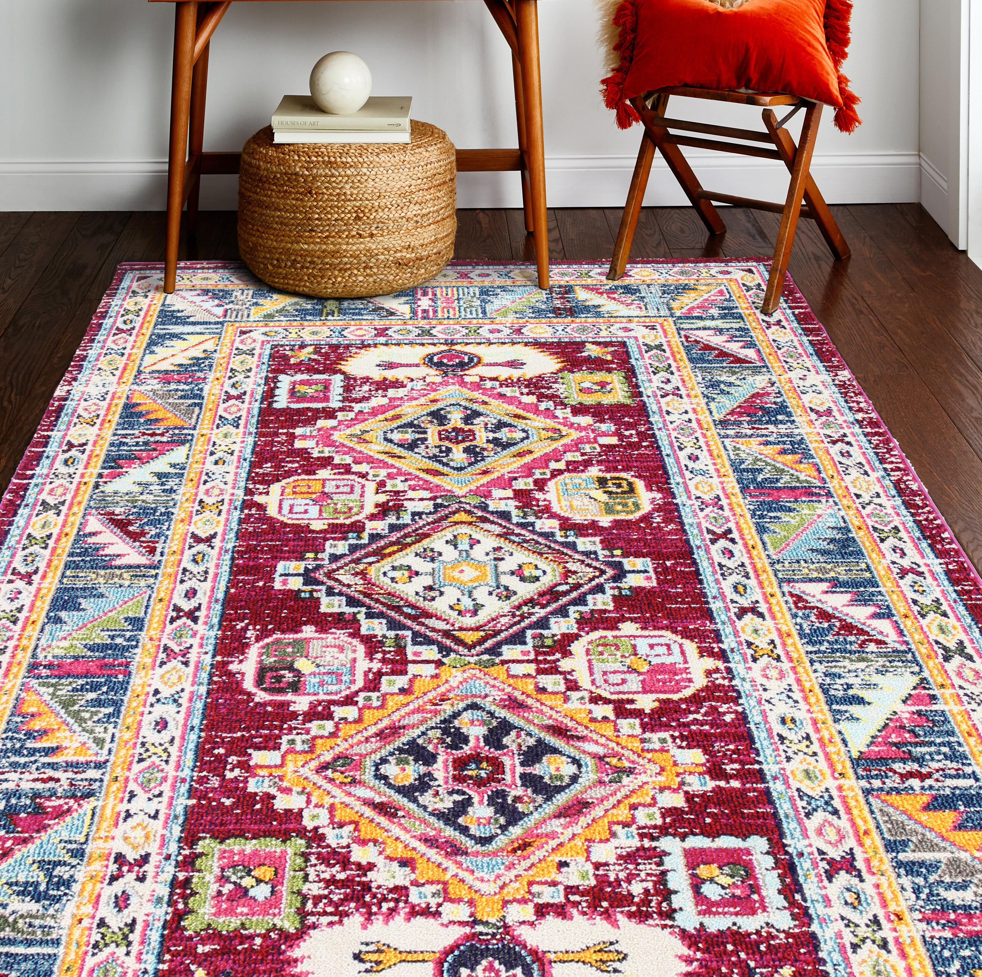 Showcasing An Array Of Vibrant Colors In Pixelated Hues This Casually Modern Rug Is Eye Catching Foundation To Your Stylish E The Saturated