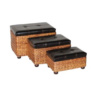 3 Piece Rush Wicker Trunk by Attraction Design Home
